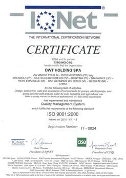 chứng nhận DAB Grundfos