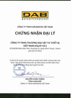 Chứng nhận chất lượng DAB Grundfos