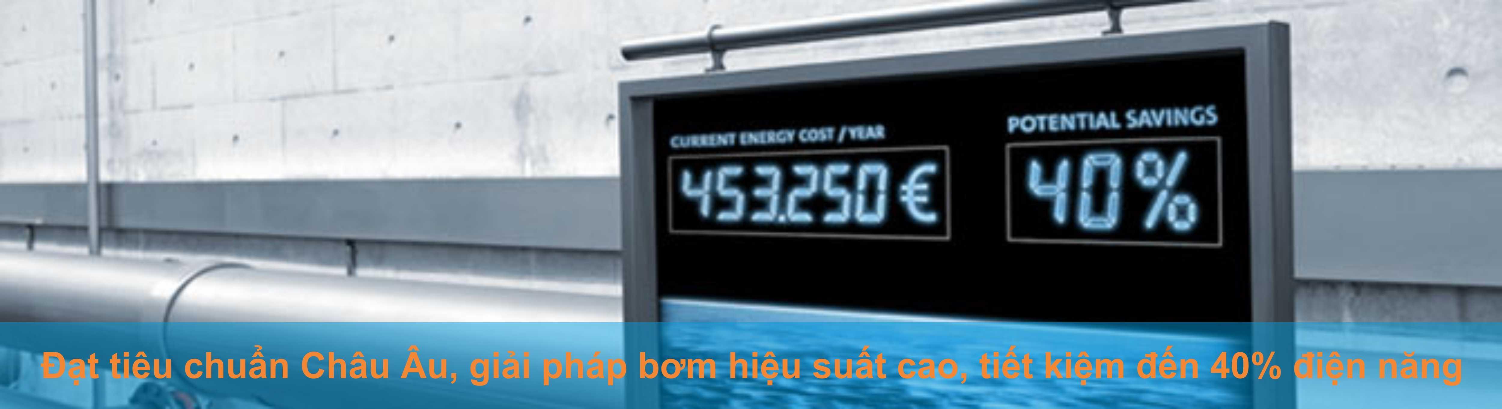 Máy bơm DAB tiết kiệm điện năng